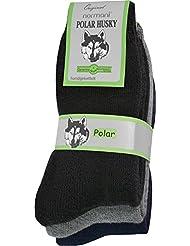 3 Paar Sehr Warme Polar Socken mit Vollplüsch und Schafwolle / Nie wieder Kalte Füße !