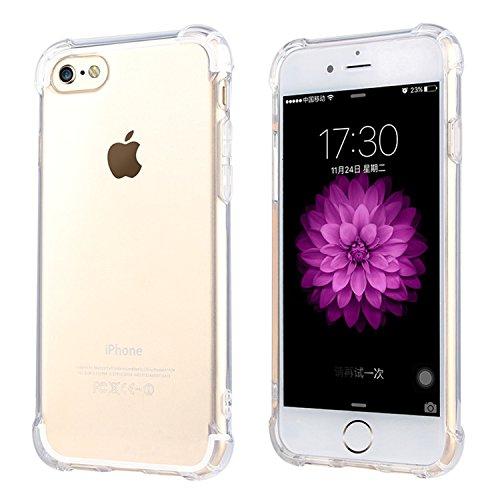 """ARTLU® iPhone 6 / 6S 4.7 """"Case Cover [avec Protecteur d'écran gratuit], Transparent silicone souple Clear Gel TPU Scratch Proof design transparent Creative Ultra Slim Back Cover Shell pour Apple iPhon A4"""