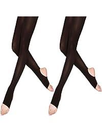 LeerKing DANCEYOU 2 paires 70 deNier Étrier Ballet Danse Collant élastique  Opaque Jambières four Fille et 51e99ec0cce