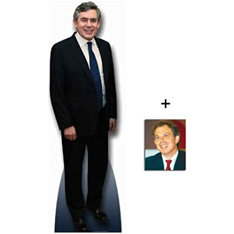 *FAN PACK* - GORDON BROWN (LABOUR POLITICIAN / BRITISH PRIME MINISTER) - LIFESIZE CARDBOARD CUTOUT / STANDEE / STANDUP - INCLUDES 8x10 (25x20cm) STAR PHOTO - FAN PACK #127 by (Websweep Limited) Celebrity Fan Packs