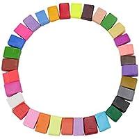 DIY arcilla de colores, 32colores DIY Creative calle modelo de arcilla, suave moldeado horno hornear arcilla y Tutorial Stress Relief juguete para niños y adultos