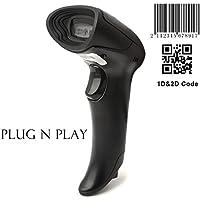 2D CCD Barcode Scanner MUNBYN Escáner de Codigo de Barras portátil USB con cable QR Code Scanner Lector de código de imagen, compatible con Micro PDF417, código QR, Data Matrix Plug e Play