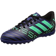 adidas Zapatilla de Fútbol Nemeziz Messi Tango 17.4 Turf Niño Unity Ink-Hi-Res Green-Core Black