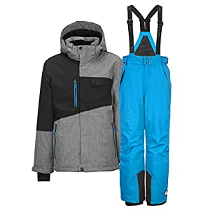 Killtec Skianzug Jungen Porto Jr. grau/Melange + Gauror Jr. blau – 128-176