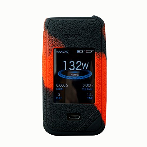 RUIYITECH Protector de pantalla para SMOK X-PRIV Kit funda protectora de silicona para Smok X PrivMod Black Red