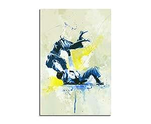 Judo III 90x 60cm Sport Photos Paul Sinus Art Splash Art Image mural Aquarelle Art