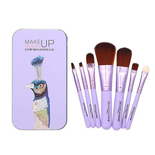 Festnight Bioaqua 7 stücke Make-Up Pinsel Set Mini Tragbare Nylon Haar Kosmetische Pulver Concealer...