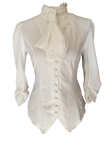Steampunk Goths - Camisas - Liso - para Mujer Blanco 42