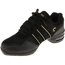 Zapatos De Danza Baile Deportivos Modernos Zapatos De Alta Tacón De Jazz Para Mujeres - Oro negro, 40
