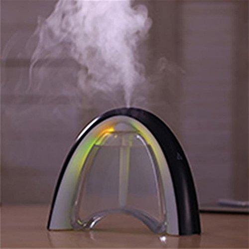 Preisvergleich Produktbild XYYN Forum Ultraschall Luftbefeuchter USB Haushalt Büro Stumm Cool Nebel Luftreinigungsapparat mit Wasserlos Automatische Abschaltung Schutz , black