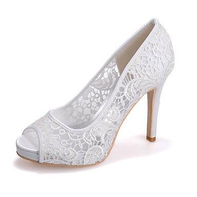RTRY Donna Tacco Shoesstiletto Peep Toe Sandali Matrimoni/Parte &Amp; Sera Nero/Rosa/Bianco Avorio US7.5 / EU38 / UK5.5 / CN38