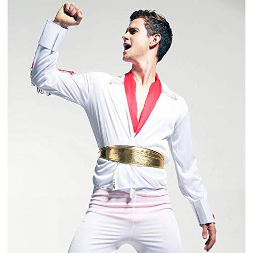 Kostüm Presley Jungen Elvis - NiQiShangMao Halloween Kostüme Herren Sänger Kostüm Cosplay 50er Jahre Hollywood Starlet Kleid