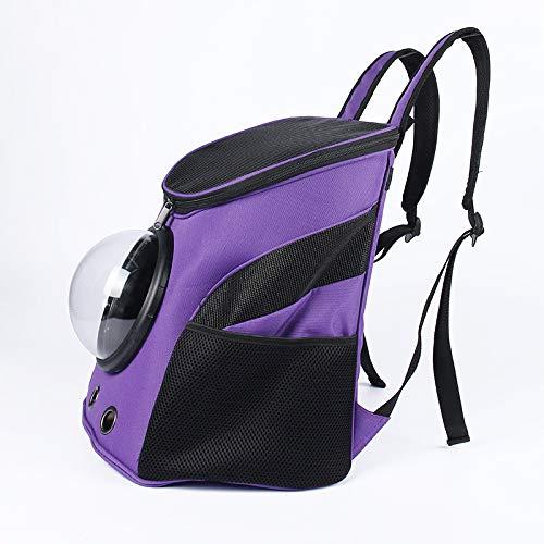 XBECO PET liefert Pet Carrier Rucksack für Katze Kitten Doggie Puppy Baby Carrier für kleine Medium Breed Dogs Traveling/Camping/Camping@,Purple