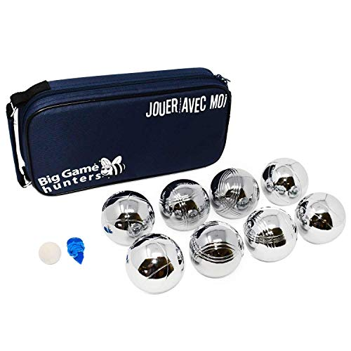 74974c684f48c Big Game Hunters 8 Boules Set with Rust-Free Protection and Luxury Canvas  Carry Bag