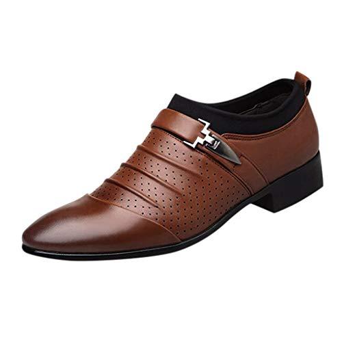 NnuoeN☀ Mens Slip-On Loafer Oxford Formale Business Casual Scarpe da Uomo Per Gli Uomini Punta in Pelle Scarpa