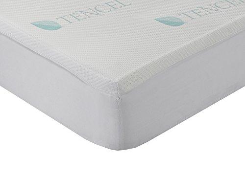 Classic Blanc - Surmatelas en mousse à mémoire de forme viscoélastique Lyocell, confort plus 4 cm. 180 x 200 cm. Lit 180. Toutes les mesures