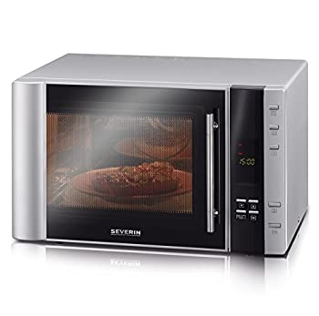 Severin M W7825 Micro onde avec Grill/fonction d'air chaud 900 W Argent