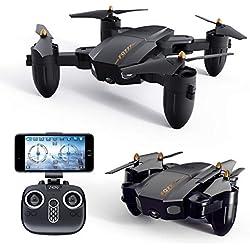 Drone GPS, Drones Con Cámara 1080P HD, Quadcopter Dual Modo GPS Wifi,Avión Radiocontrol Con Función Follow Me, 360º Gran Angular, Control Remoto, RTF Altitude Hold, Modo Sin Cabeza Y Retorno A Casa,