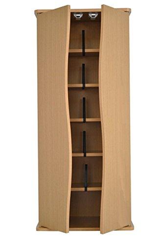 Citysales quercia piccolo dvd cd storage cabinet armadio con ante rack tower unità con 5ripiani