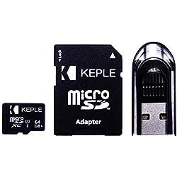 Tarjeta de Memoria Micro SD 64GB de Keple   MicroSD Class 10 para Amazon Kindle Fire 7, Kids Edition, Fire HD 8 / HD8, Fire HD 10 / HDX 7, HDX 8.9 Inches Tablet Tableta PC   64 GB SDXC UHS-1 U1