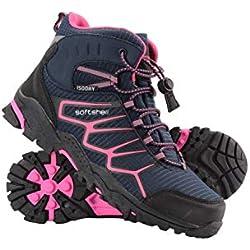 Mountain Warehouse Chaussures Randonnée Enfant Fille Garçon Softshell Semelle Phylon Tige Haute Bleu Marine 30.5