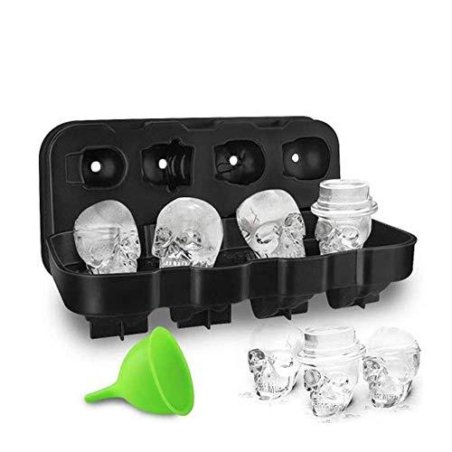 HoneyHolly 3D Cubo De Hielo Del Cráneo Molde Con