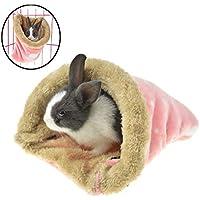 FLAdorepet Hamster Rat Hamaca Colgante Cama para Jaula Invierno Cálido Polar Pequeño Animal Conejo Guinea Pig Cama Casa