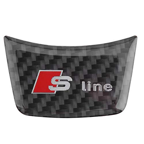 Etiqueta engomada del volante de fibra de carbono para Audi A4L A6L A3 Q3 Car Styling (C)