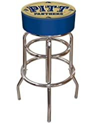 NCAA University of Pittsburgh Padded Swivel Bar Stool by Trademark Gameroom