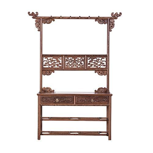 Echte Mahagoni Möbel Hühnerflügel Holz Antike Neue Chinesische Schlafzimmer Hause Boden Hängen Kleidung Hut Tasche Regal Rack - Chinesische Antike Holz-möbel