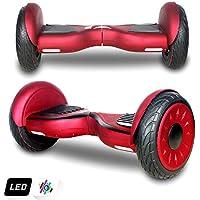 10 Pollici Hoverboard Scooter Elettrico Auto-bilanciamento Batteria di Sicurezza Z6 (Rosso)