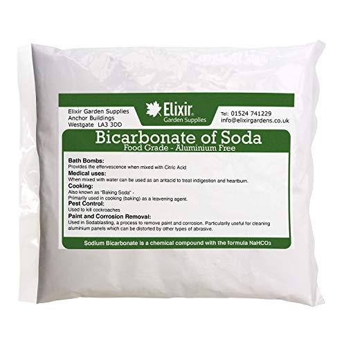 Elixir Bicarbonate Of Soda - Food Grade Baking Soda - Sodium Bicarbonate - 1kg