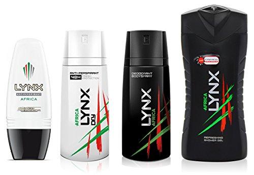 lynx-africa-gift-set-bundle-body-spray-antiperspirant-roll-on-shower-gel-no-box