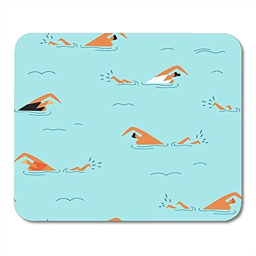 Ferien-Schwimmer-Leute, die im Ozean-Sommerzeit-Reise-Party 50S schwimmen, personifizierten rutschfesten Spielauflagen 18X22CM