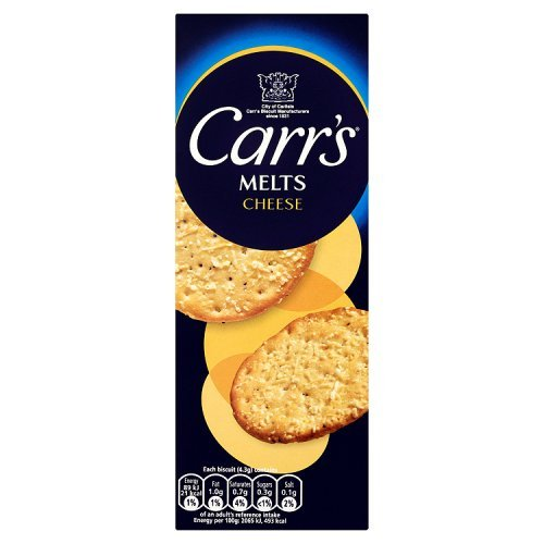 Carr's - Melts - Cheese - 150g (Case of 12)