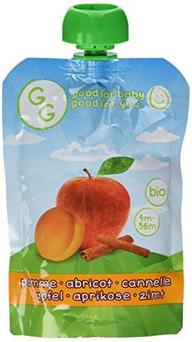 Goodness Gracious 8 Gourdes de Purée Bio Pomme Abricots et Cannelle 140 g