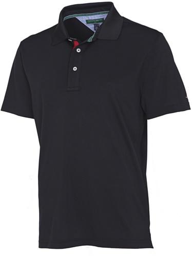 Tommy Hilfiger - Polo a maniche corte da golf Neil, da uomo, nero (nero/bianco), M
