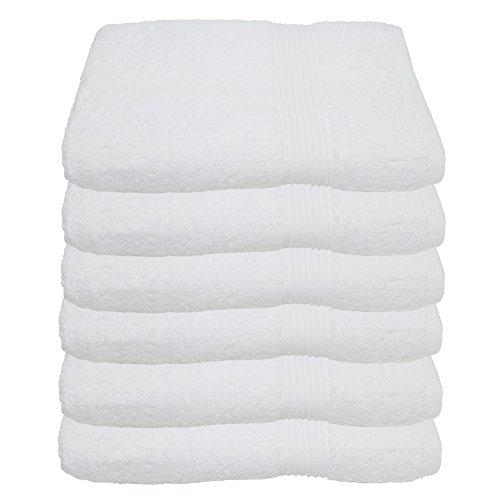 Bad Frottee-handtücher (6er Pack Handtuch Julie Julsen in 29 Farben erhältlich weich und saugstark 500gsm Öko Tex Weiß 50 x 100 cm B-Ware)
