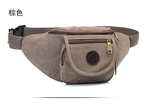 Mefly Borsa In Tela Outdoor Sports Multifunzionale Nero Con Spallamento brown