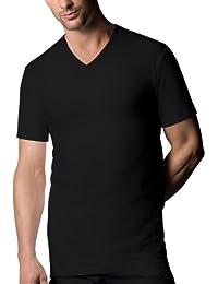 Nur Der - Maillot de corps Homme - T-Shirt 100% Cotton V-Ausschnitt Tisch Doppelpack, 827802