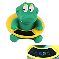 Jigang Safety Cute Animal Shape Bath Thermomete Infant Baby Bath Tub Crocodile Water Temperature Tester Toy Non-toxic
