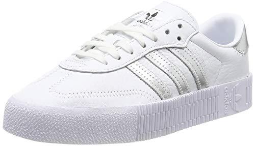 adidas Damen SAMBAROSE W Sneaker, Mehrfarbig (FTWR White/Silver Met./Core Black Ee9017), 38 2/3 EU