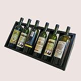 Armarios para vino Botelleros Expositor de vino Expositor de vino tinto de humo Enfriador de vitrina Vinoteca Comercial Decoración de barra de hogar Madera Botellas múltiples Estantería de almacenamie