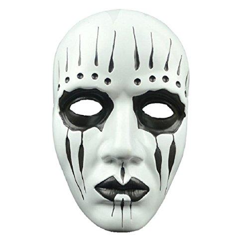 Culater Espeluznante máscara de látex Lobo Jefe de la máscara del partido de Cosplay de Halloween Animal BOLA DE LUJO (blanco)