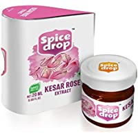 Spice Drop Kesar Rose Natural Extract, 20 ML (20-22 PORTIONS), for Food, Beverages and Dessert