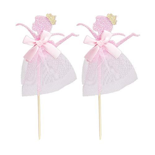 uchen Topper Glitter Ballerina Mädchen Cupcake Dekorationen Hochzeit Birthday Party Supplies ()