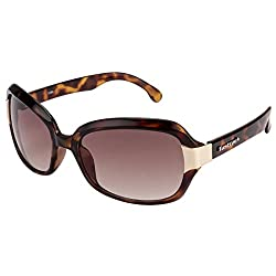FASTRACK (P157BR1F) LADIES Style Full-Rimmed, Da Brown color Sunglasses with Brown colored LENS, For Women