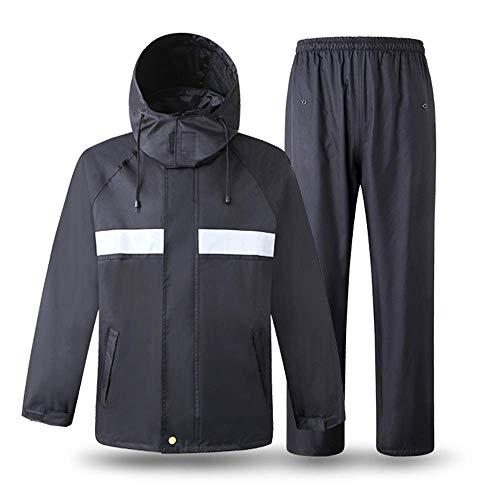 Erwachsene Regenmäntel Guyuan Reflektierende Regenjacke Verkehr Warnung Sicherheit Patrol Fluoreszierende Wasserdichte Kleidung grün Sanitär BAU Sicherheit Jacke (Size : L)