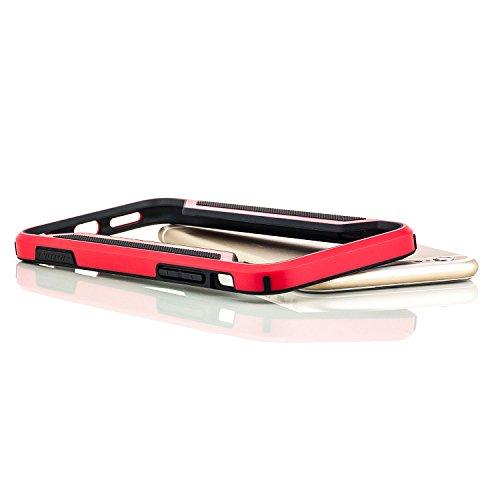 Nillkin Schutzhülle Apple iPhone 6 / 6S Hülle TPU Rahmen Case Bumper Rot Rot
