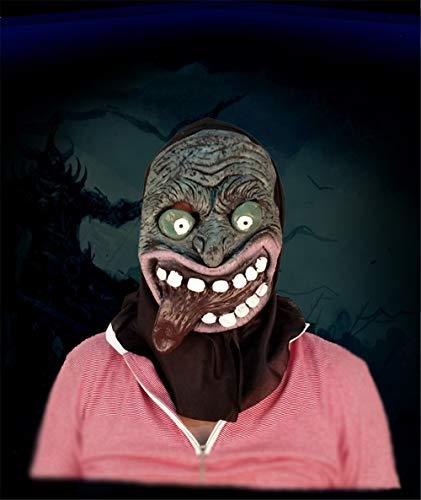 ke Horror Kopfbedeckung Geist furchterregende männliche Erwachsene Frau Gesicht Maskerade Status Dämon, Lange Zunge Maske ()
